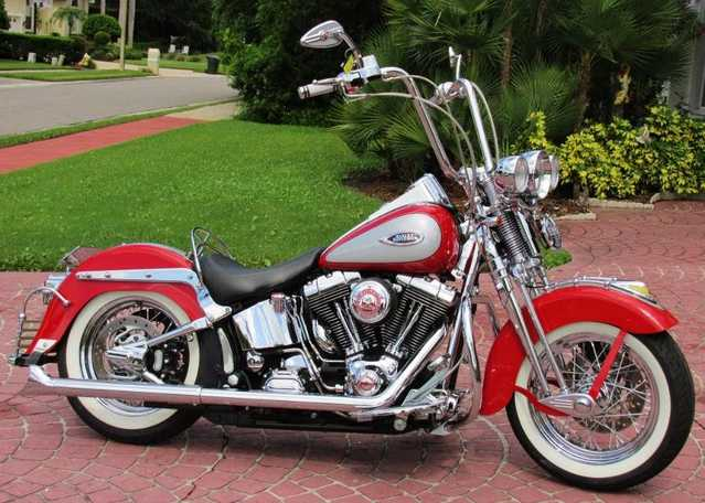 2002 Harley - Davidson Heritage Springer Flstsi Fully Customized