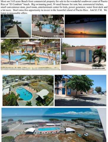 Beach Front Commercial Property For Sale In P R