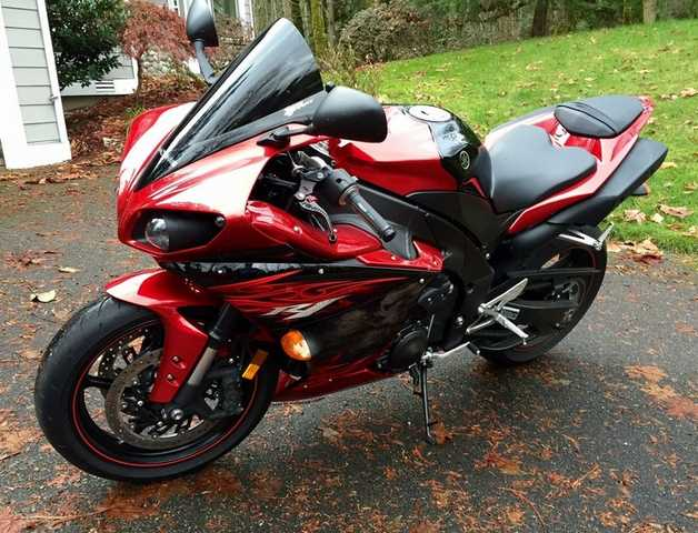 2011 Yamaha R1 Yzfr1 Candy Red Raven Used 2052 Miles