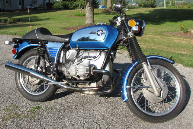 1972 Bmw R755 Monza Blue Toaster - Clean Running Condition, Cafe