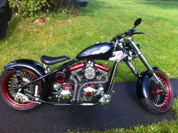 Superb Conditions 2010 Custom Built Motorcycles Chopper Death Row