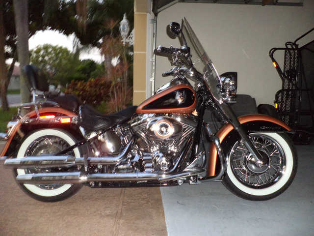 Excellent Pain2008 Harley Davidson Softail Deluxe 105 Anniversary