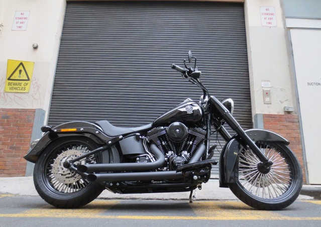 Beautif2014 Harley Davidson Fatboy Lo Flstfb Beautiful Conditions
