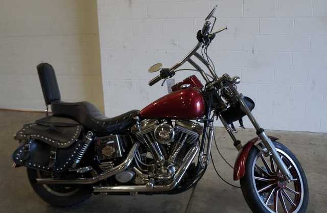 85 Harley - Davidson Dyna Fat Bob Custom Work Exhaust Leather Saddl