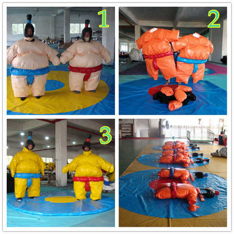 Wrestling Sumo Suits Adults Set 2 Suits Gloves Hats W Mat Factory