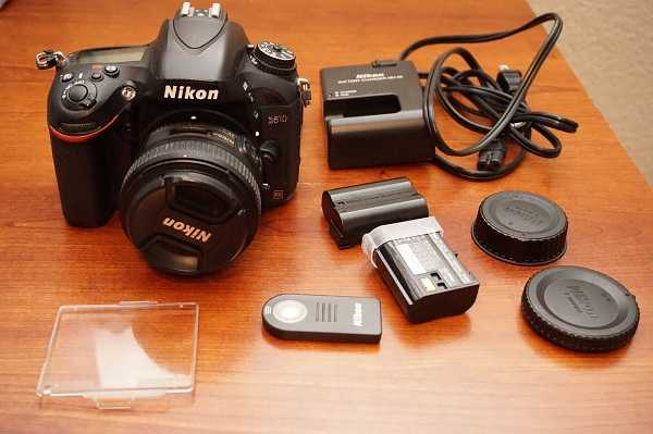 Nikon D610 24.3mp Digital Slr Camera Fx W / 50mm 1.8g Lens
