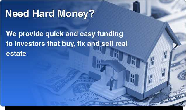 Private / Hard Money Loans Equity Based Credit Not An Issue