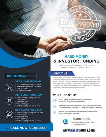 Private Lender Mortgages, Hard Money