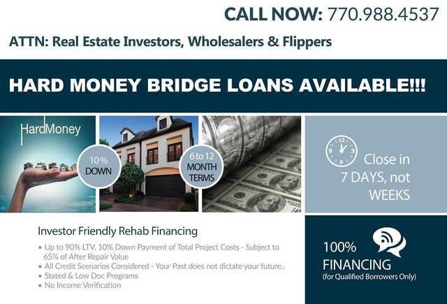 Great Rates - Hard Money Real Estate Loans