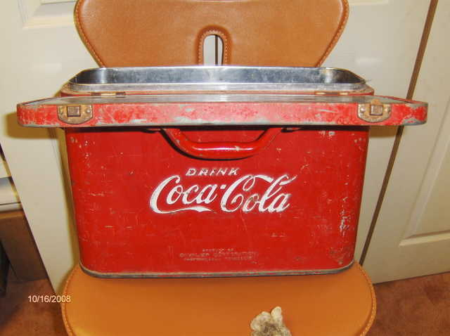 Coca Cola Airline Travel Cooler From 1930's & 1940's
