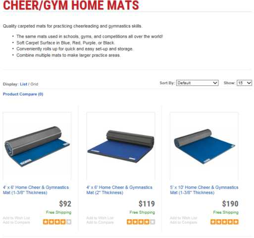 Ez Flex Cheer Mats