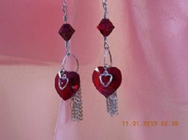 Handcrafted Heart Earrings