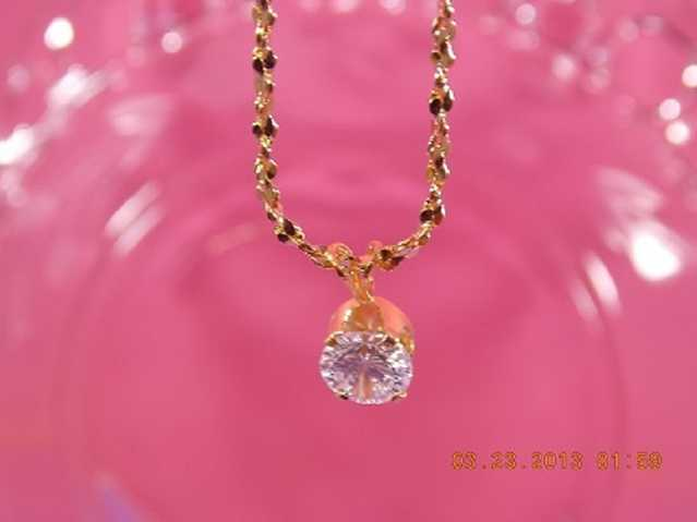 Beautiful 8mm Zircon Necklace Made Locally In Usa.