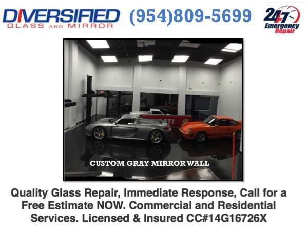 Coral Springs, Fl:. Commercial Mirror Installation, Glass & Mirror