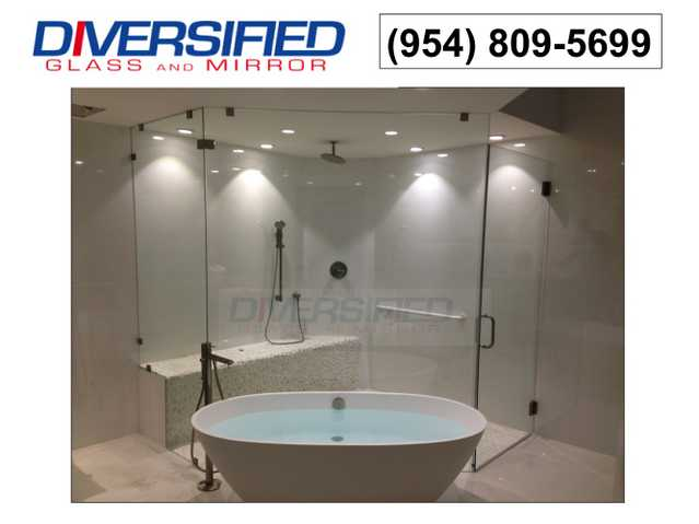 Miami + Broward Shower Enclosures, Vanity Mirror Instalation, Bat
