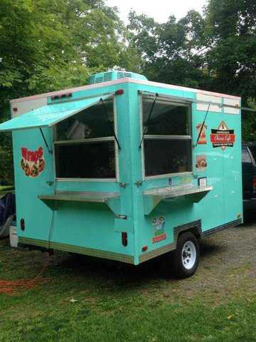 2002 Concession Food Trailer Green