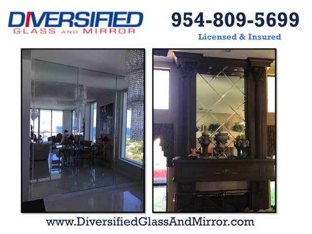 Glass Repair, Mirror Removal, Mirror Installation, Mirror Walls
