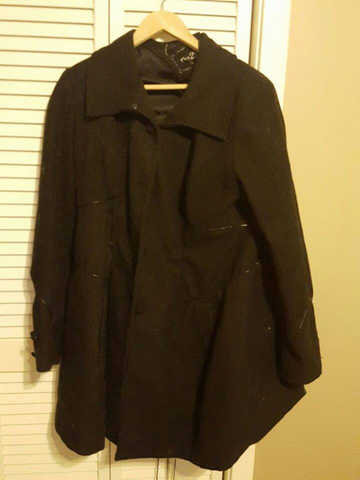 Women's Wool Coat (Size Xl)