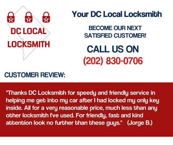 Washington Dc Lock&door Repair| Call Dc Local Locksmith Now!
