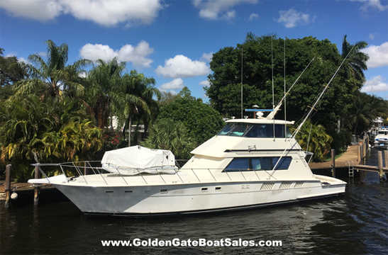 1988 65 Hatteras 65 Convertible Enclosed Bridge For Sale