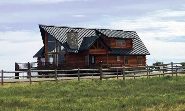 Custom Log Home On 324.5 Acres, Spivey, Kansas