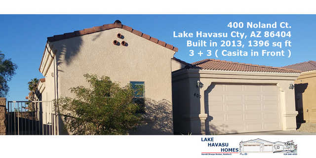 House For Sale - Lake Havasu 3 +3 - W / Casita - Boat Deep Garage