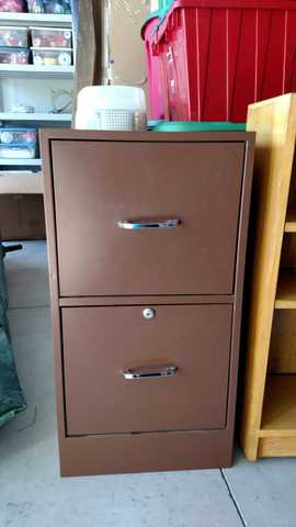 Brown 2 - Drawer Metal File Cabinet