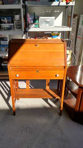Solid Oak Secretary