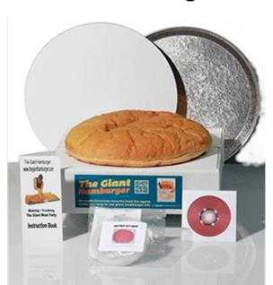 16 Inch Giant Hamburger Kit