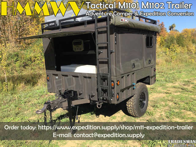 Military Hmmwv Tactical M1101 M1102 Trailer Adventure Camper & Ex