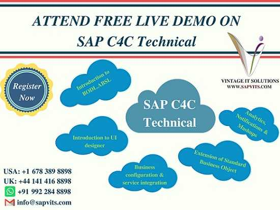 Sap C4c Technical Online Training Usa