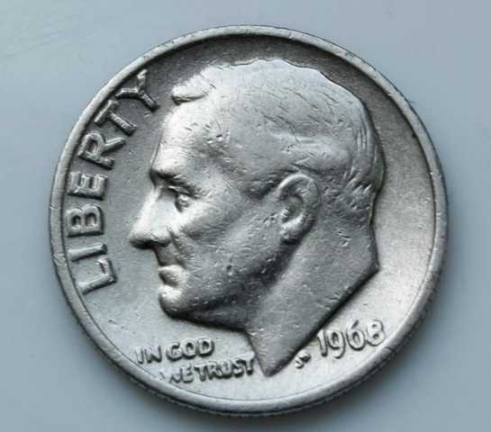 Liberty 1968 One Dime