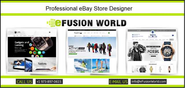 Choose A Professional Designer For Your Ebay Store